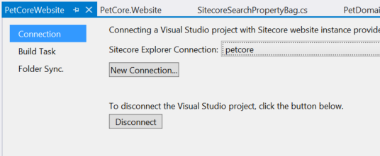 Choose an instance of Sitecore from the dropdown